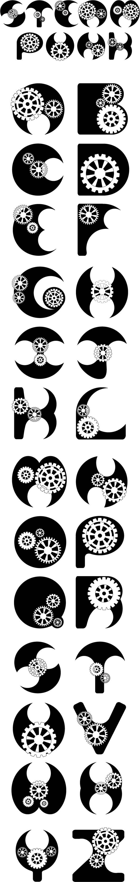 Steampunk Font by ~RenMakimurs on deviantART 22 tattoo idea- have tattoo artist come up with numbers based on this maybe
