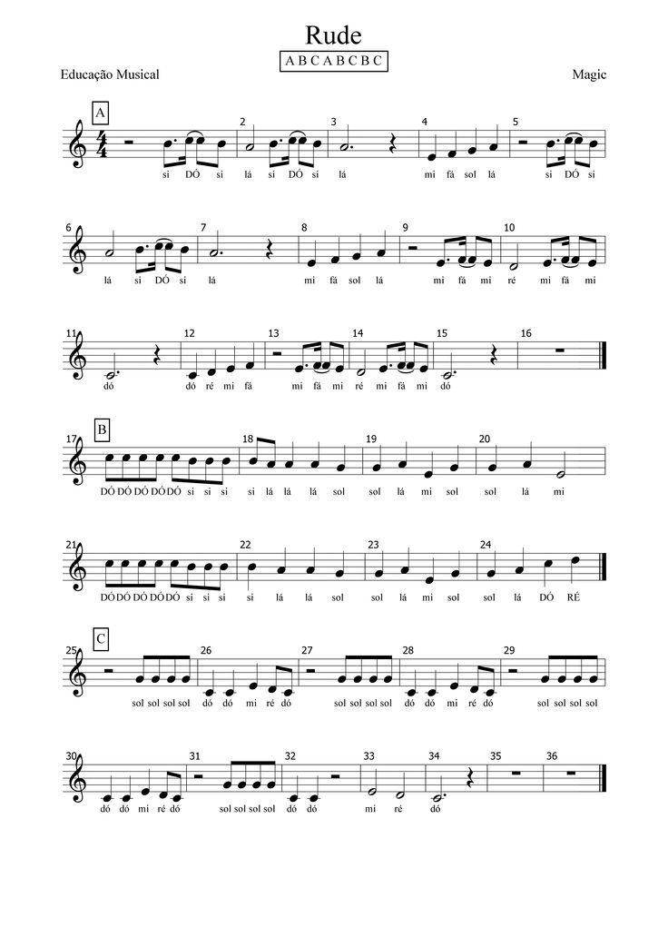 Rude - Magic - Partitura - Educacao Musical