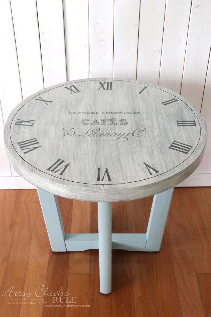 French Country Clock Face Table (free printable to make ...