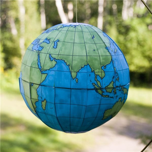 How to Make a Homemade World Globe - Pattern and Directions
