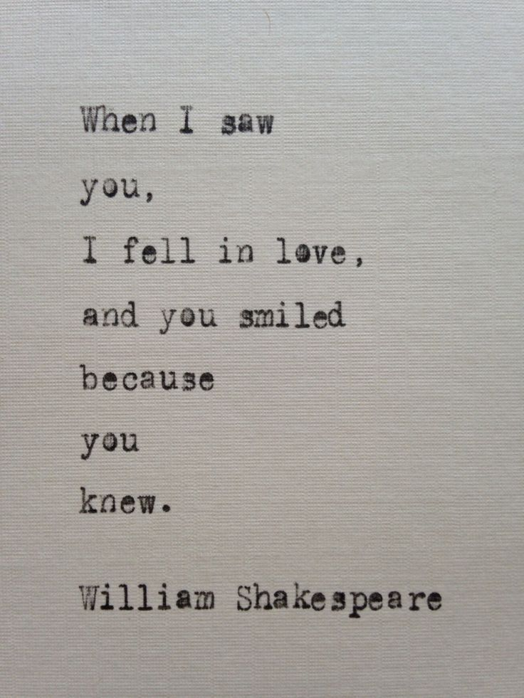 William Shakespeare quote typed on typewriter – unique gift