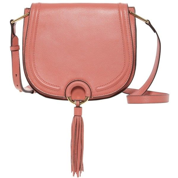 Vince Camuto Elme Saddle Crossbody Bag ($125) ❤ liked on Polyvore featuring bags, handbags, shoulder bags, leather crossbody purse, cross-body handbag, red leather crossbody, red leather handbags and purses crossbody