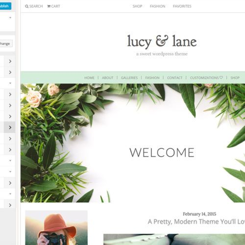 Meet The Lucy & Lane, A Customizable Wordpress Theme for Bloggers by Angie Makes. This Customizable Wordpress Theme Had Tons of Options!