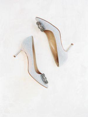 Light blue wedding heels