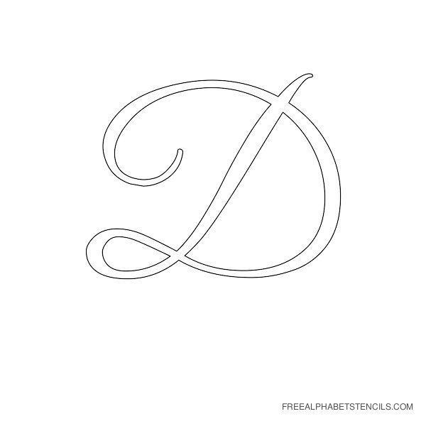 Free Printable Letter Stencils | ... Alphabet Stencils in Printable Format | Free Printable Stencils Com