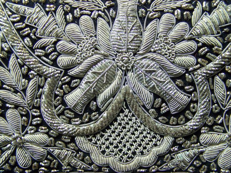 Close-up of a Vintage 1940s Zardozi Embroidery Evening Bag.