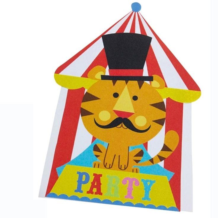 Zirkus Party   8 Einladungskarten