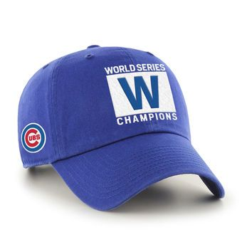 "Men's Chicago Cubs '47 Royal 2016 World Series Champions ""W"" Flag Clean Up Adjustable Hat"