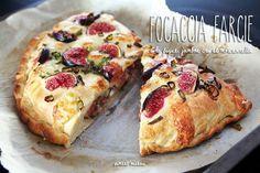 focaccia farcie à la figue,jambon cru et mozzarella - Stuffed focaccia with fig, smoked ham and mozzarella
