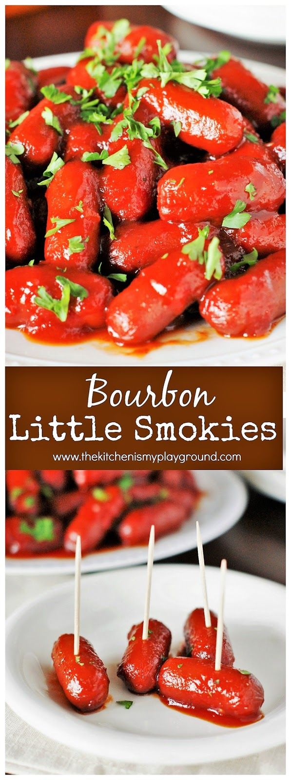 Lit'l Smokies cocktail links are surrounded by a delicious bourbon sauce in this perfect-for-a-party dish.