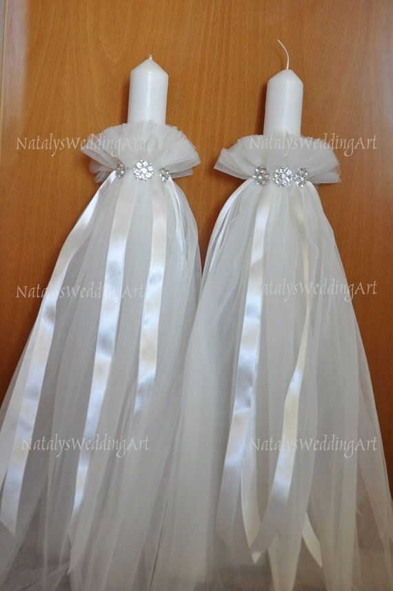 Wedding Lampathes Orthodox Greek Wedding lambades by NatalysWeddingArt