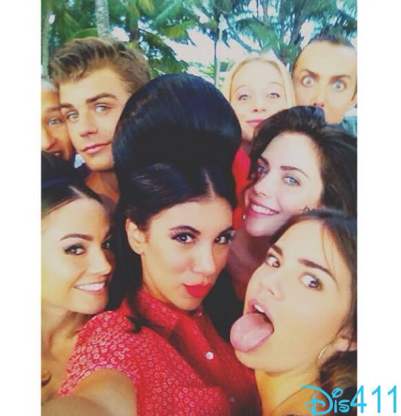"""Teen Beach Movie 2″ Stars Group Selfie August 3, 2014"