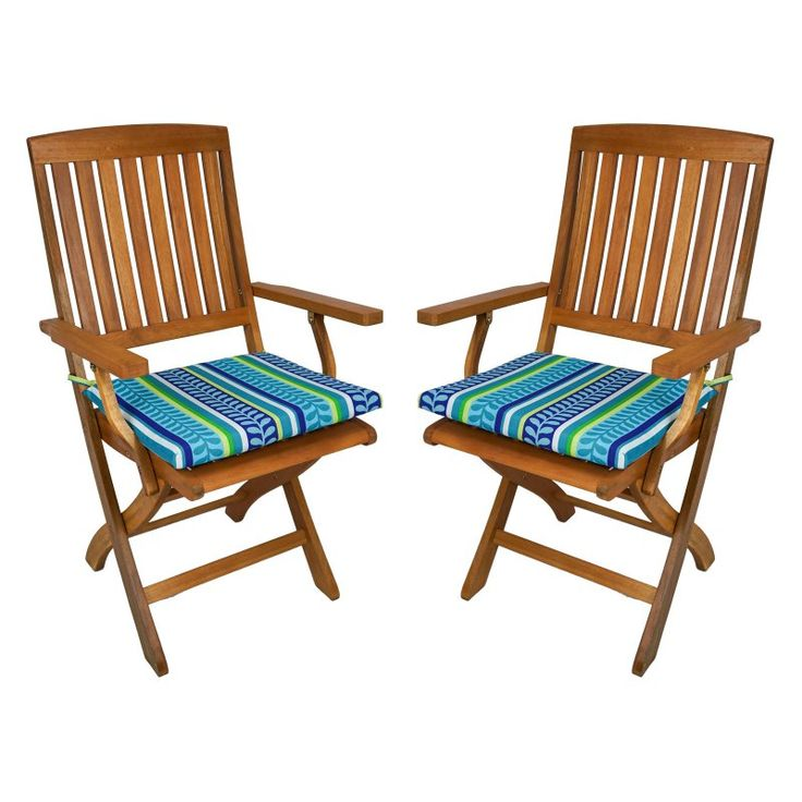 Blazing Needles Outdoor Folding Chair Cushion   17.5 X 15 In.   Set Of 2    9TT FA 40 2CH REO 12