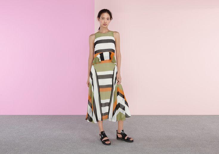 Carter Sripe Midaxi Dress - Finery London | USA