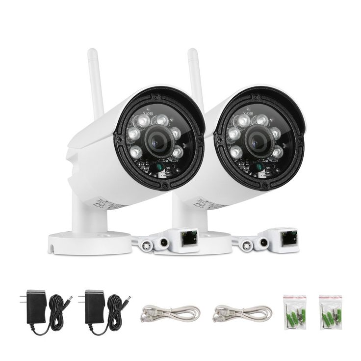 SANNCE 2pcs Wifi 720P Wireless IP In/Outdoor Security Camera System w/32GB Card - ICON2 Luxury Designer Fixures  SANNCE #2pcs #Wifi #720P #Wireless #IP #In/Outdoor #Security #Camera #System #w/32GB #Card