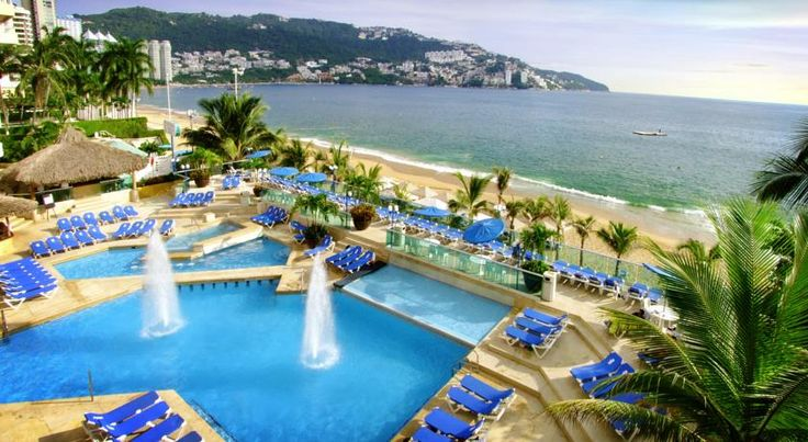 Copacabana Beach Hotel Acapulco Nestled on the Pacific Ocean's most beautiful bay, the Copacabana Beach Hotel is the perfect place to relax on the beach or enjoy recreational activities in the center of Acapulco.