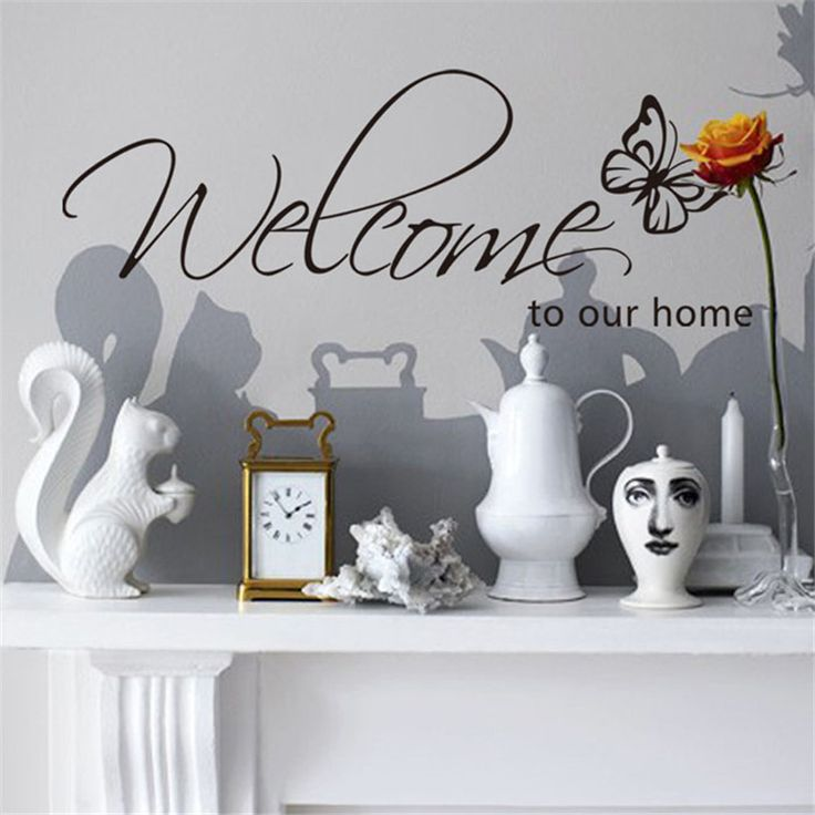 Butterfly Welcome To Our Home Sticker //Price: $6.99 & FREE Shipping //     #wallsticker