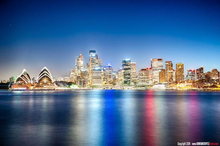 Sydney CBD skyline after dark. Check out my scenic pictures at www.graemedoylephoto.com!!