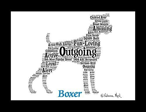 Boxer | Personalize | Custom | Print | Art | Dog Art | Gift | Wall Decor | Memorial. Boxer Art I created this artwork for all the animal lovers and I put extensive research into each one of my creations. Through this research, I make a one-of-a-kind illustration that showcases the unique traits of the Boxer. Proudly display the characteristics of your Boxer and its special place as a family member. Looking for a special gift? This would make a great present for an Boxer parent. Options…