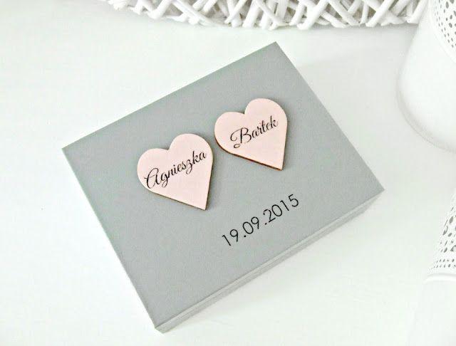 """wedding ringbox   ślubne pudełko na obrączki w romantycznym wydaniu """"Romantic Cold"""" by Eco Manufaktura"""