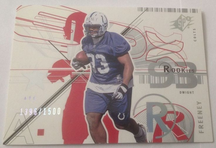 DWIGHT FREENEY 2002 SPx Indianapolis Colts Football Card #114 Rookie 1396/1500 #SPx #IndianapolisColts