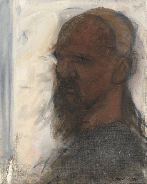 John-E Franzén (Swedish, b. 1942), Self Portait, 1986. Canvas, 40 x 32 cm.