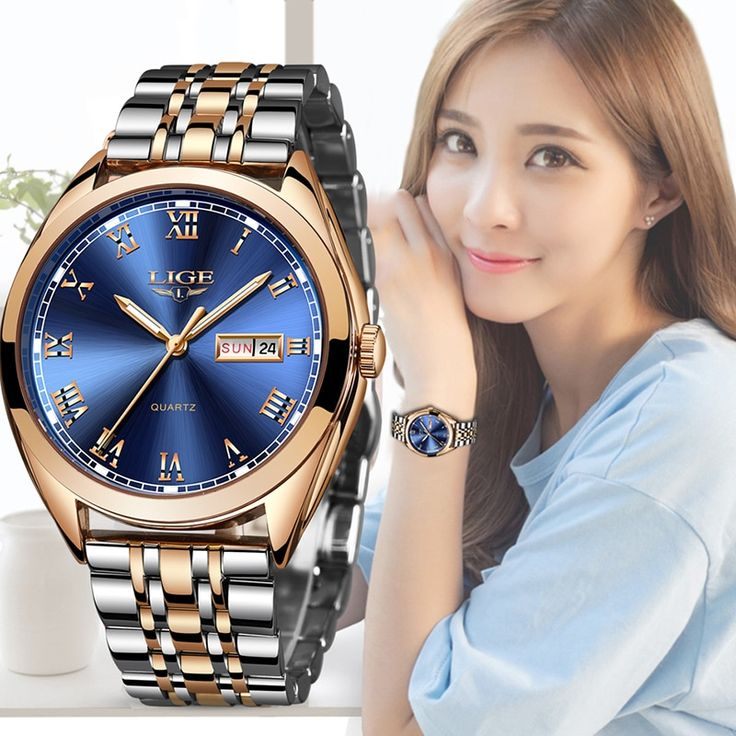 <b>2019 LIGE New</b> Rose Gold Women Watch Business Quartz Watch ...