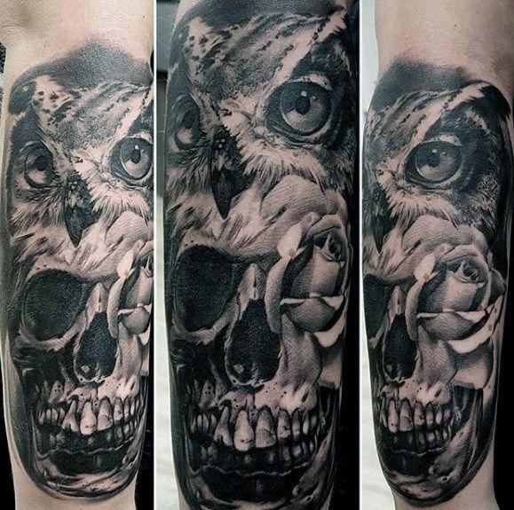 40 Disegni Del Tatuaggio Gufo Avambraccio Per Gli Uomini Idee Di Colore Piuma Tatuaggio Joker Tattoo Design Owl Forearm Tattoo Tattoo Designs Men