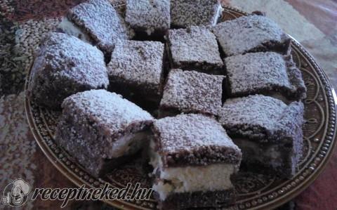 Túrós-kókuszos sütemény recept fotóval