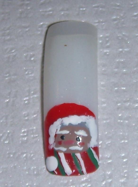 Χριστουγεννιάτικο σχέδιο για manicure_No12