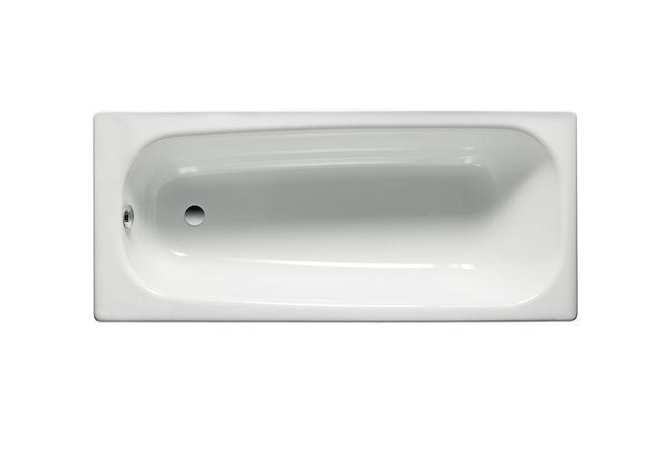 Bañera de chapa de acero modelo Contesa de Roca, de dimensiones 160x70cm, color blanco.