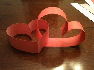 A Valentine's twist on traditional paper chain garlands