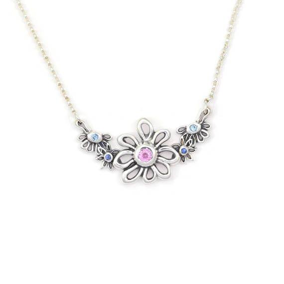 Donna Pizarro Designs Sapphire Diamond Necklace-Celtic zUudPk