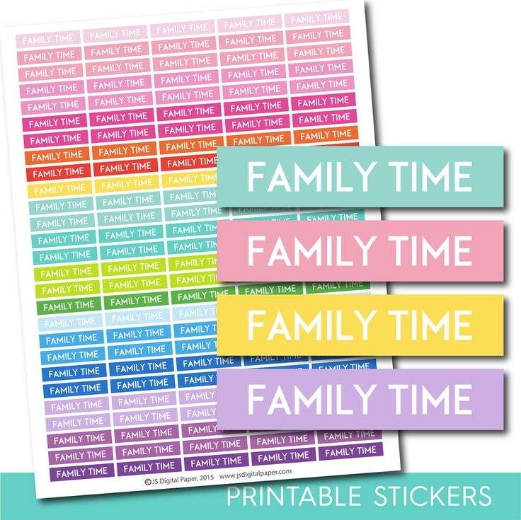 Family stickers, Family planner stickers, Family weekly and monthly planner stickers, STI-678