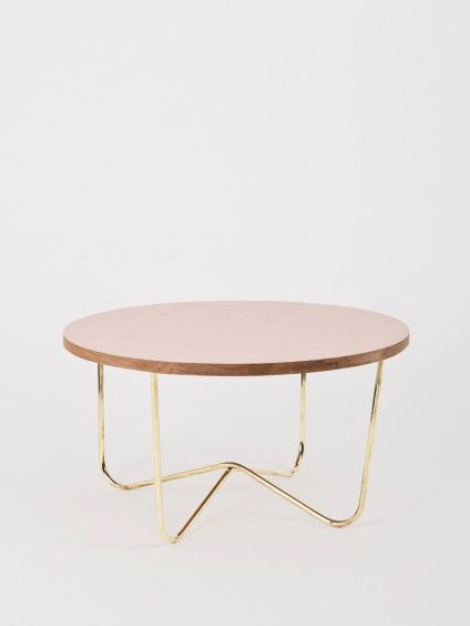 Cross brass table by Kate Sylvester.   Breaking out into furniture...
