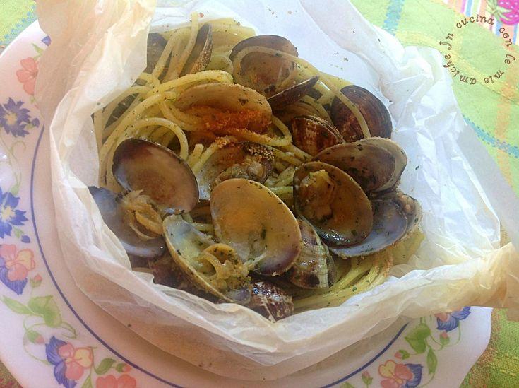Spaghetti+con+le+vongole+al+cartoccio