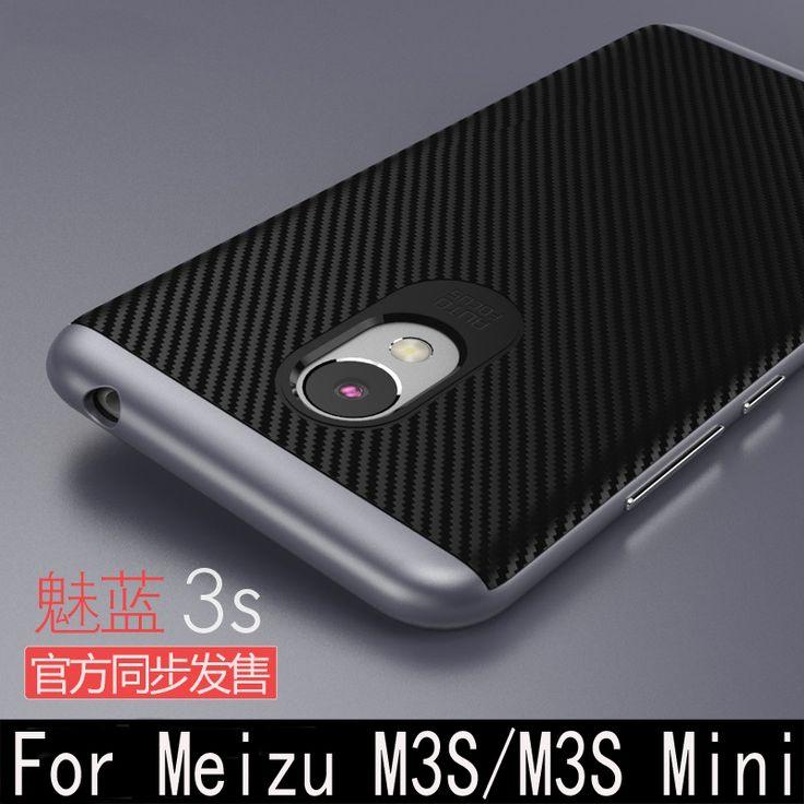 Meizu M3S Case Luxury hard PC frame+Silicon Hybrid Protective back cover for meizu m3 mini (5.0 inch) m3S mini phone shell  - US $3.29