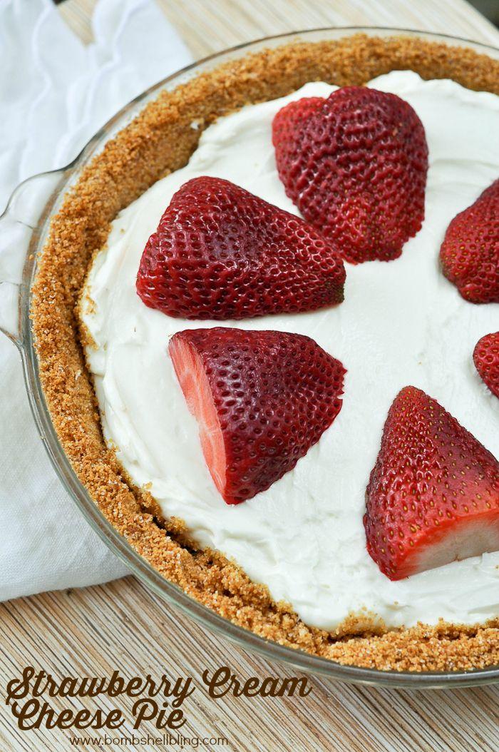 Strawberry Cream Cheese Pie - Perfect spring/summer recipe!
