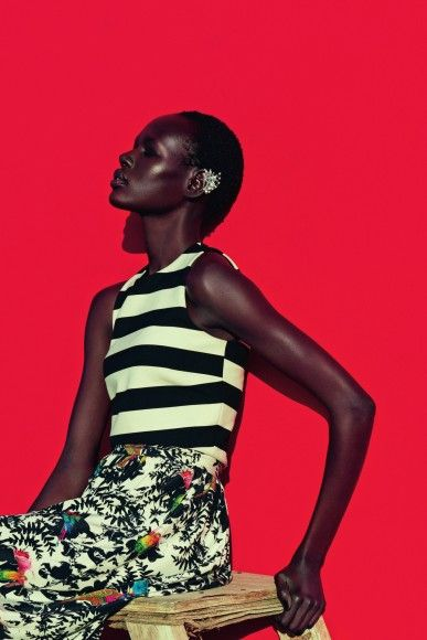 """""""Mixed Message"""" - Neiman Marcus March 2015 With Model Ajak Deng1966 Magazine"""