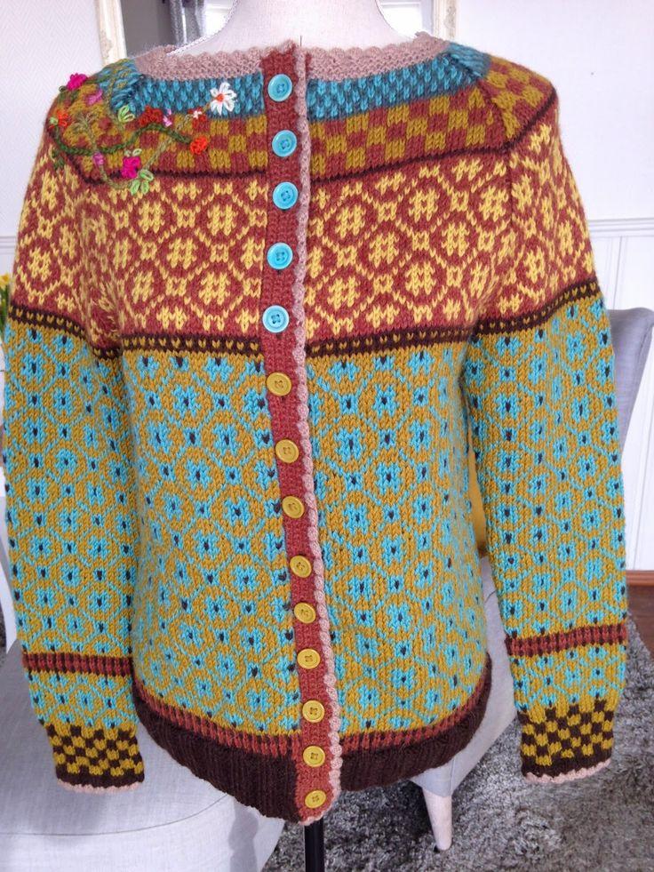 Strikkeriet mitt- En blogg om strikking:): Wiola kofta