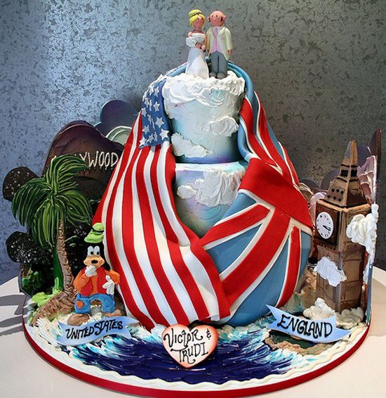 American english Flag Wedding Cake | wedding cake was created by Elin and her team for a man from England ...