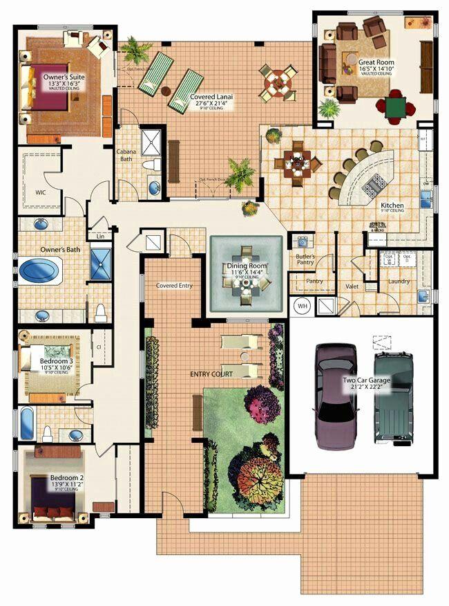 Square Shaped House Plans Unique H Shaped House Plan House Blueprints Dream House Plans House Layouts