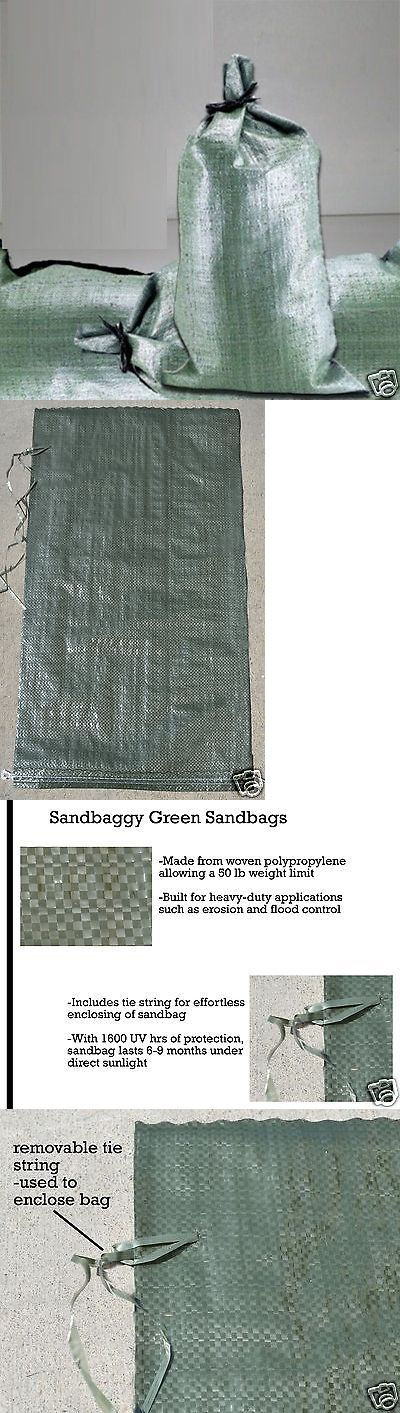 Other Watering Equipment 29522: Sandbags Flood Control Large Sand Bag Reinforce Barrier - Priority Mail -> BUY IT NOW ONLY: $109.99 on eBay!