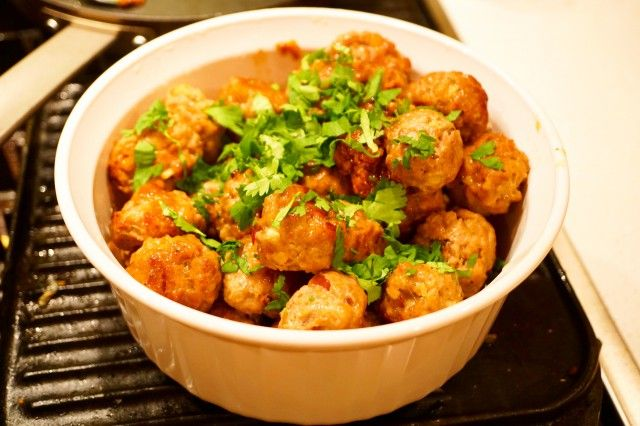 Pork Meatballs in Asian Style