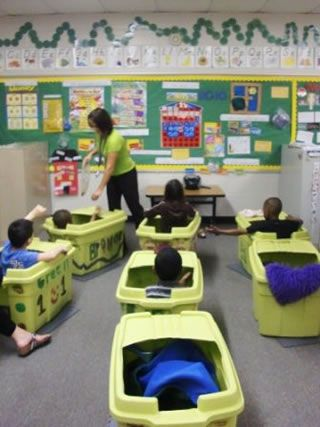 This a GCPS teaacher :)  Tubs are sensory strategies to provide boundaries for moderate ASD class during group time activities. This looks like a great website!Repinned by SOS Inc. Resources @sostherapy.
