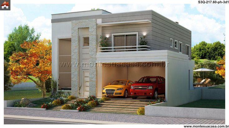Planta de sobrado 3 quartos monte sua casa for Plantas de casas tipo 3 modernas
