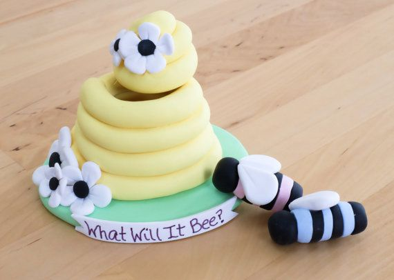 Beehive Keepsake Cake Topper Gender Reveal What By TheLemonRow