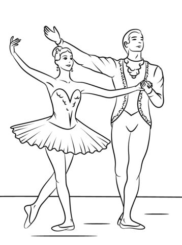 sleeping beauty ballet coloring page