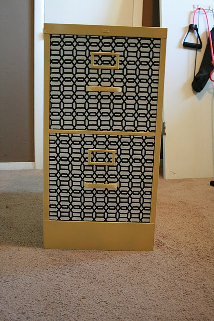 Upcycled, redecorated Filing Cabinet is ready for new life!