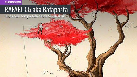 Ilustración. Revenge de RAFAEL CG aka Rafapasta Leer más: http://www.colectivobicicleta.com/2015/05/ilustracion-de-Rafapasta.html